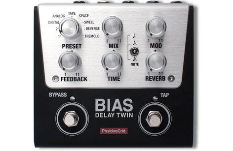 Positive Grid BIAS Delay Twin Tone Match Delay Pedal (2 Button)  BIAS-DELAY-TWIN