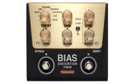 Positive Grid BIAS-DISTORTION-TWIN BIAS Distortion Twin Tone Match Distortion Pedal (2 Button)  BIAS-DISTORTION-TWIN
