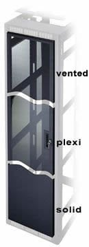 Middle Atlantic Products PFD37 37-Space Plexiglass Front Door PFD37