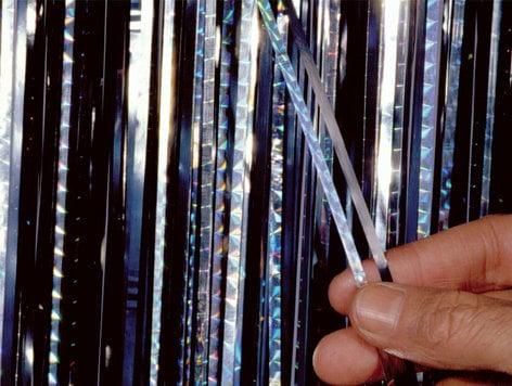 Rosco SLIT-DRAPE-COMBO-24 Slit Drape 24 ft Slashed Curtain Material in Color Combinations SLIT-DRAPE-COMBO-24