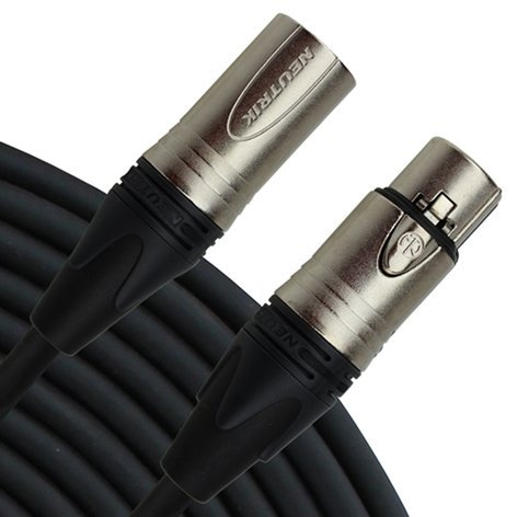 Rapco NM1-25 25 ft Stage Series XLR-F to XLR-M Microphone Cable with Neutrik Nickel XX Series Connectors NM1-25