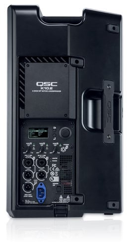 QSC Powered Speaker Bundle with Cover, Stand, Stand Bag, XLR cable, Plug Strip and Extension Cord K10.2-SINGLE-K