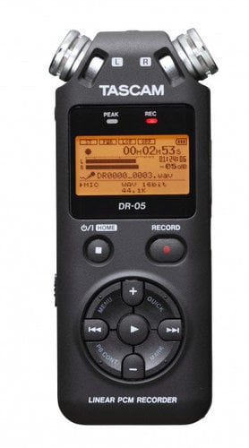 Tascam DR-05/TH-MX2-K Digital Stereo Recorder With FREE TH-MX2 Headphones DR-05/TH-MX2-K