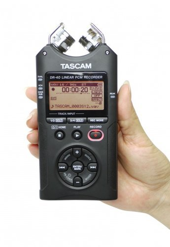 Tascam DR-40/TH-MX2-K 4-Track Mobile Digital Recorder With FREE TH-MX2 Headphones DR-40/TH-MX2-K
