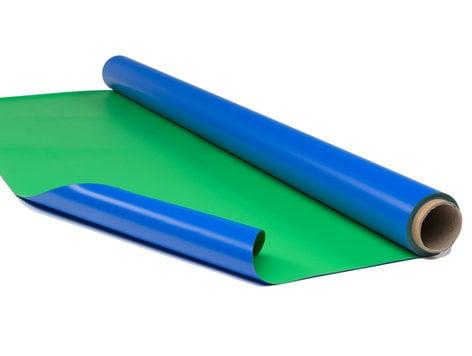 """Rosco Laboratories Chroma Floor Blue/Green Studio Floor, 63"""" x 131.3 ft Bolt CHROMA-FLOOR-BOLT"""