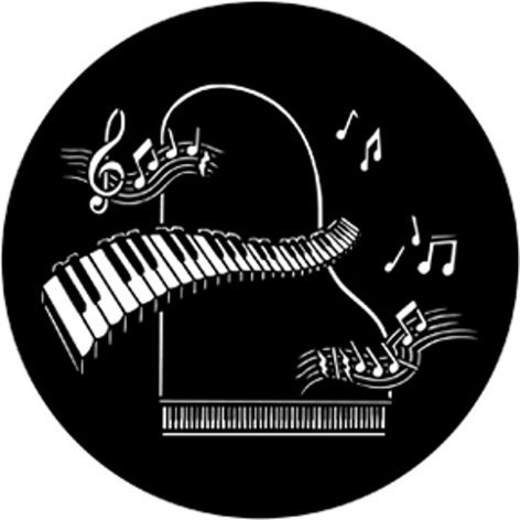 Rosco Laboratories Piano forte Steel Gobo 77435