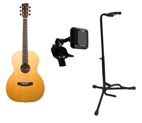 Recording King ROS-A3M Guitar Bundle ROS-A3M Guitar + Stand and Tuner ROS-A3M-PK1-K
