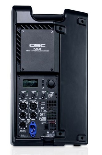QSC Powered Speaker Bundle with Cover, Stand, Stand Bag, XLR cable, Plug Strip and Extension Cord K8.2-SINGLE-K