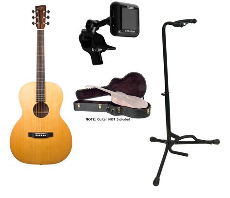 Recording King ROS-A3M-PK3 Guitar Bundle ROS-A3M Guitar + Hard Case, Stand, and Tuner ROS-A3M-PK3-K