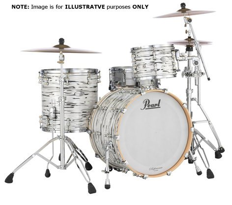 Pearl Drums Music City Custom 5-Piece Kit [SUMMERFEST] 5-Piece Shell Pack C416 in Black N' White Oyster Finish with Gator Elite Air Cases SF-MCCRFP-4P-C416-KI