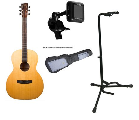 Recording King ROS-A3M Guitar Bundle ROS-A3M Guitar + Gig Bag, Stand, and Tuner ROS-A3M-PK2-K