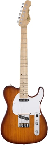 G&L Guitars ASAT-CLASSIC-BLK/MP ASAT Classic Tribute Series Electric Guitar with Gloss Black Finish ASAT-CLASSIC-BLK/MP