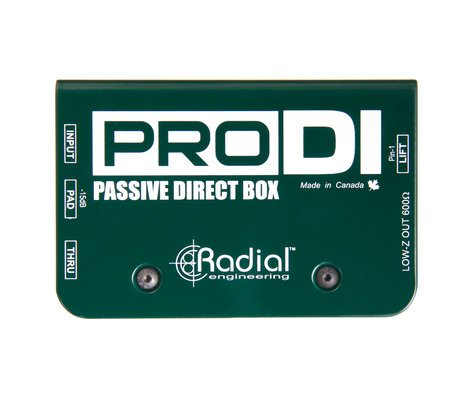 Radial Engineering ProD2™ Stereo Direct Box Bundle with (2) 25ft XLR & (2) 20ft Instrument Cables PROD2-PK1-K
