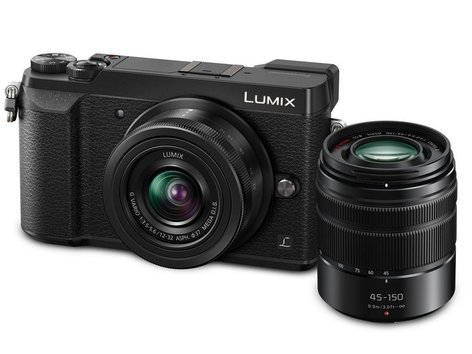 Panasonic LUMIX GX85 4K Mirrorless 16MP Camera with 12-32mm and 45-150mm Lenses in Black DMC-GX85WK