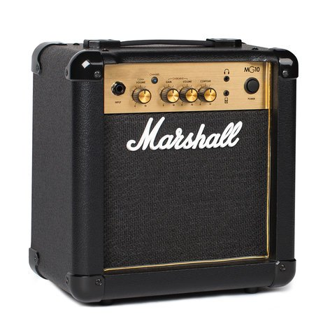 "Marshall Amplification MG10 Guitar Amp, 10W 1x6.5"" Combo Amplifier M-MG10G-U"