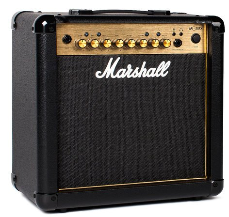 "Marshall Amplification MG15FX Guitar Amp, 15W 1x8"" with FX M-MG15GFX-U"