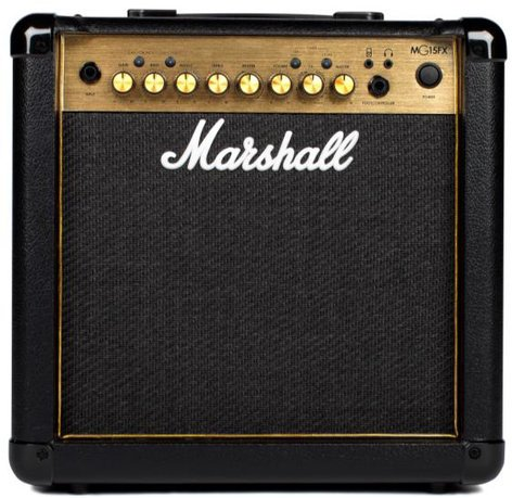 "Marshall M-MG15GR-U Guitar Amp, 15W 1x8"" Combo Amplifer M-MG15GR-U"
