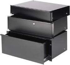 Chief Manufacturing ESD3-LOCKING Sliding Drawer 3 Space, Locking ESD3-LOCKING