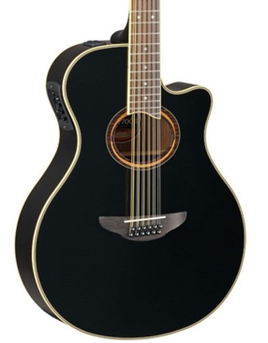 Yamaha APX700II-12 12-String APX Series Guitar, Black Finish APX700II-12-BLACK