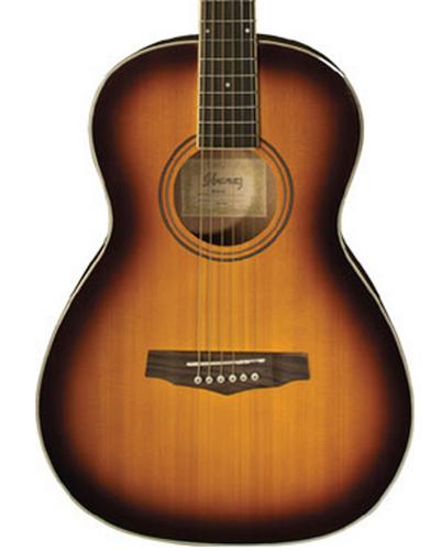 Ibanez PN15BS Parlor Body Acoustic Guitar, Spruce Top, Mahogany Neck, Brown Sunburst PN15BS