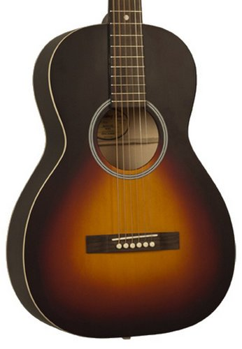 Recording King RPH-05 Dirty Thirties Satin Sunburst 0-Style Acoustic Guitar with Spruce Top RPH-05