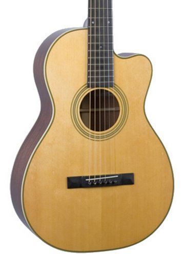 Recording King RP1-626-C Nitrocellulose Natural 12th Fret Cutaway 0-Style Acoustic Guitar with Englemann Spruce Top RP1-626-C