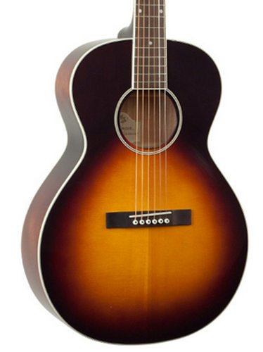 The Loar LH-200-SN Vintage Sunburst Solid Top Small Body Acoustic Guitar LH-200-SN