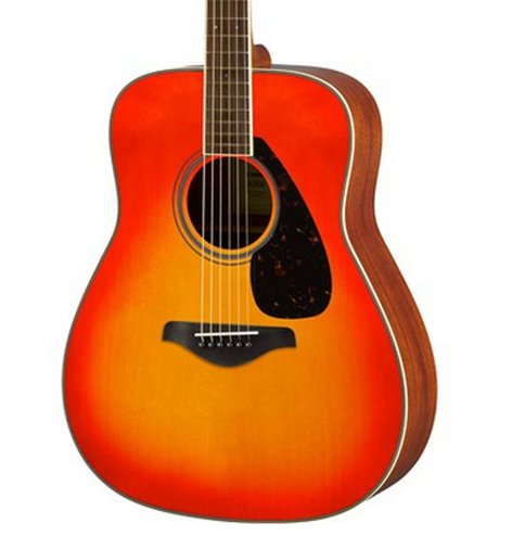 Acoustic guitar with mahogany back sides by yamaha for Yamaha fg820 review