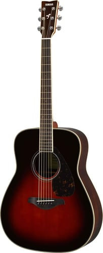 Yamaha FG830 Acoustic Guitar with Solid Sitka Spruce Top, Rosewood Back and Sides FG830