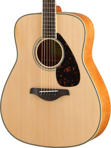 Yamaha FG840 Acoustic Guitar with Solid Sitka Spruce Top, Flame Maple Back and Sides FG840