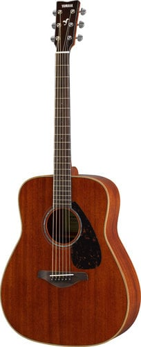 Yamaha FG850 Acoustic Guitar with Mahogany Top, Back, and Sides FG850