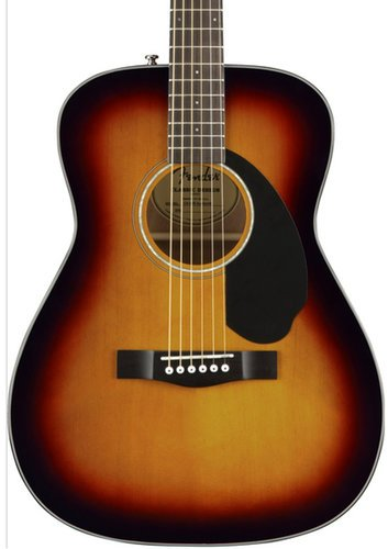 Fender CC-60S Concert Acoustic Guitar with Mahogany Back and Sides, Rosewood Fingerboard CC-60S