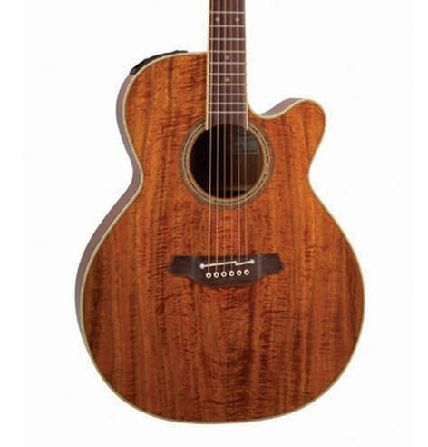 Takamine EF508KC Legacy Series Gloss Natural NEX Cutaway Acoustic/Electric Guitar with Hardshell Case EF508KC
