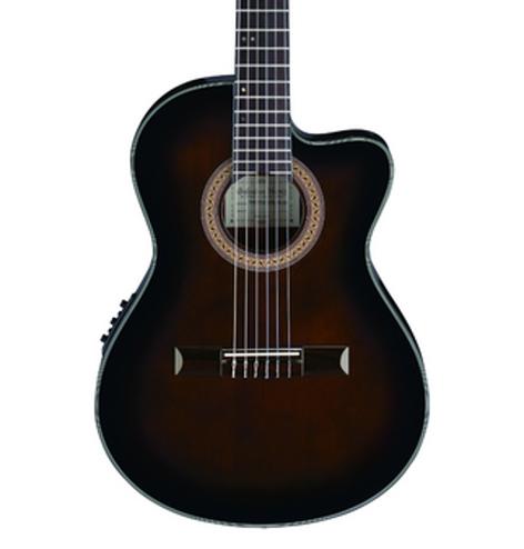 Ibanez GA35TCE Thinline Cutaway Classical Acoustic-Electric Guitar GA35TCEDVS