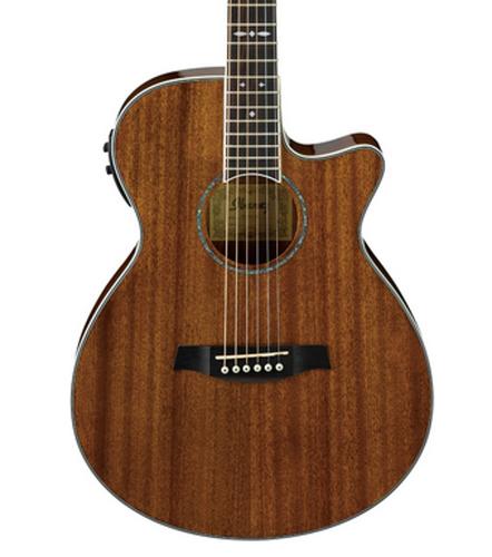 Ibanez AEG12IINT Natural High Gloss AEG Series Acoustic/Electric Guitar with AEQ-SP1 Electronics AEG12IINT