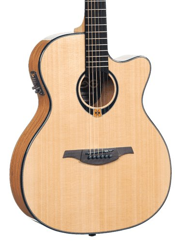 Lag Guitars T80ACE High Gloss Tramontane Series Auditorium Cutaway Acoustic/Electric Guitar T80ACE