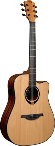 Lag Guitars Tramontane T80DCE High Gloss Dreadnought Cutaway Acoustic/Electric Guitar T80DCE