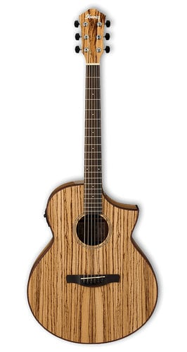 Ibanez AEW40ZWNT Natural High Gloss AEW Series Acoustic/Electric Guitar with AEQ-SP2 Preamp AEW40ZWNT