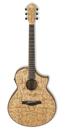 Ibanez AEW40ASNT Natural High Gloss AEW Series AEW Cutaway Acoustic/Electric Guitar with AEQ-SP2 Preamp AEW40ASNT