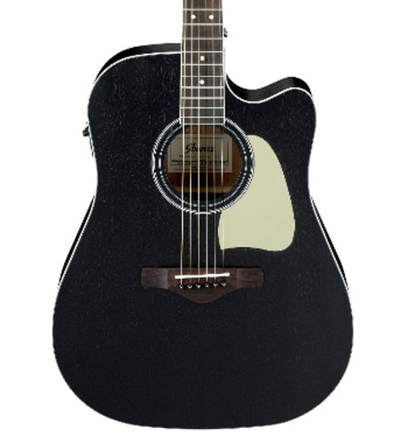 Ibanez AW360 Artwood Dreadnought Acoustic Electric Guitar - Weathered Black Open Pore AW360CEWK
