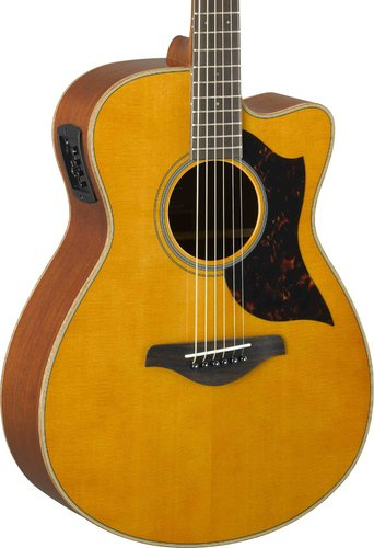 Yamaha AC1M-VN Vintage Natural Small Body Cutaway Acoustic-Electric Guitar AC1M-VN