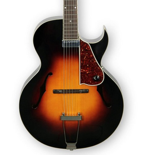 The Loar LH-350 Gloss Vintage Sunburst Archtop Cutaway Acoustic/Electric Guitar with Humbucking Pickup LH-350-VS