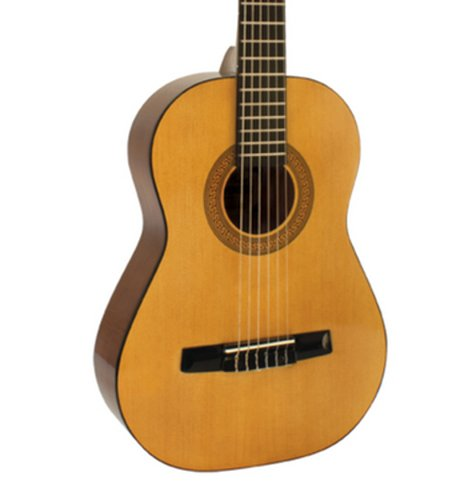 Hohner AC02 Nylon String Acoustic Guitar, 1/2 Size AC02