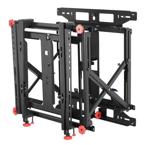 Peerless DS-VW775-QR  Supreme Full Service Video Wall Mount with Quick Release DS-VW775-QR