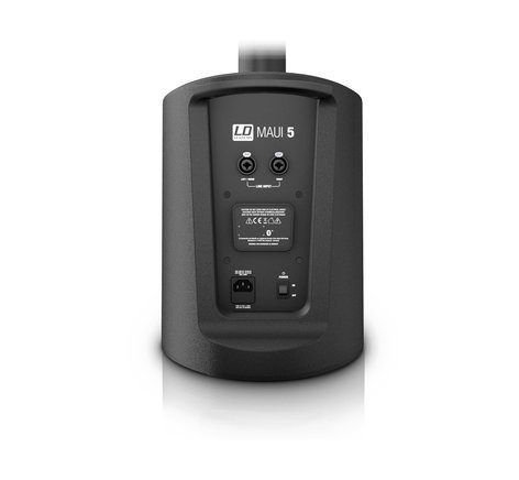 LD Systems MAUI5GO MAUI® 5 GO Ultra-Portable Battery-Powered Column PA System with Mixer & Bluetooth® in Black MAUI5GO