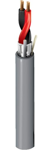Belden 5500FE 2-Conductor Shielded Security and Sound Cable, Gray, 1000 ft 5500FE-1000