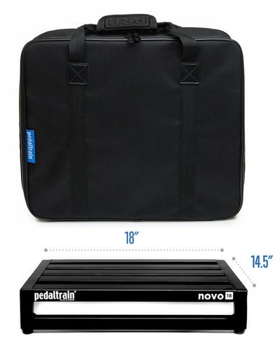 "pedaltrain Novo 18 Five-Rail 18"" Wide Pedalboard with Soft Case PT-N18-SC"