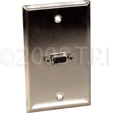 TecNec WPL1138 Wall Plate VGA/DSub 15p HD Female WPL1138