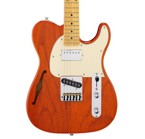 G&L ASAT-BLUES-HLW-CLO ASAT Classic Bluesboy Semi-Hollow Clear Orange Tribute Series Semi-Hollowbody Electric Guitar ASAT-BLUES-HLW-CLO