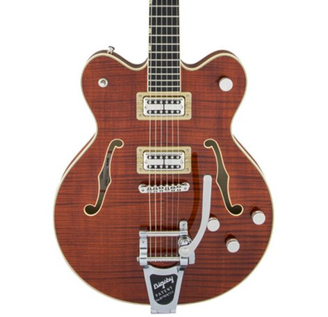 Gretsch G6609TFM-BBN G6609TFM Player Edition Broadkaster Center Block Double-Cut Guitar with Deluxe Hardshell Case G6609TFM-BBN
